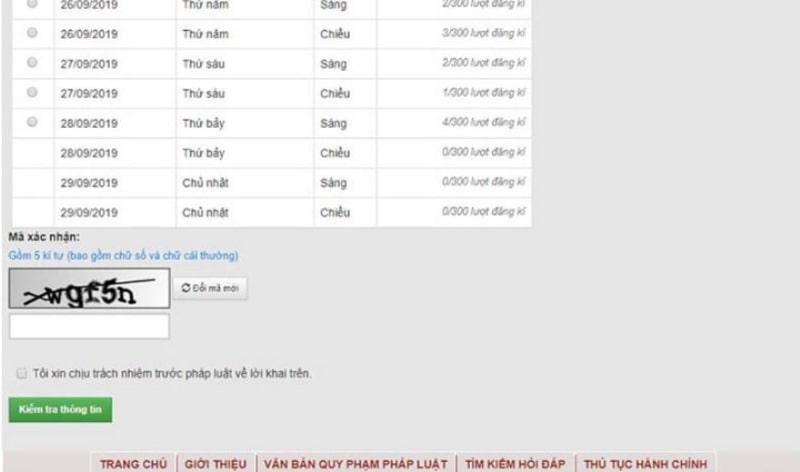 Tick chọn Có để xác nhận số CMND