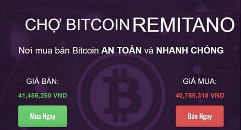Sử dụng sàn giao dịch Remitano để đổi Bitcoin sang tiền VNĐ