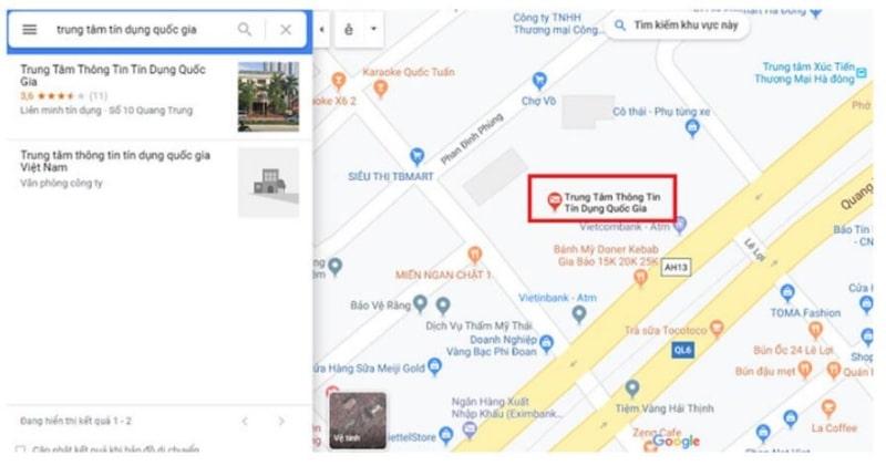 Địa chỉ cụ thể các nơi có thể kiểm tra CIC