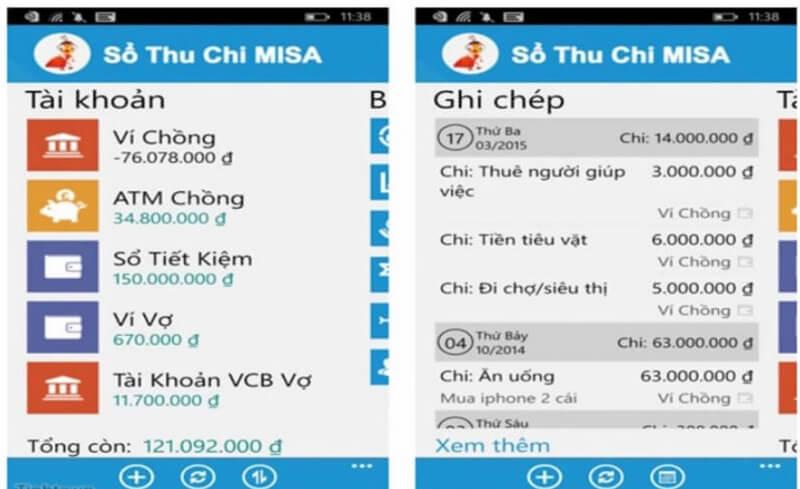 App Money Lover cũng là một app được nhiều người yêu thích